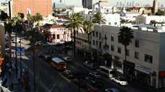 Los Angeles Street Time Lapse Stock Footage