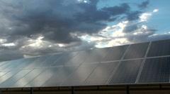 Solar Panel Cloudscape Time Lapse - stock footage