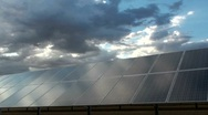 Stock Video Footage of Solar Panel Cloudscape Time Lapse