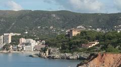 Palma Mallorca beach pan P HD 9834 Stock Footage