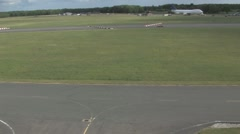 Aerial view of cars on a race track Stock Footage