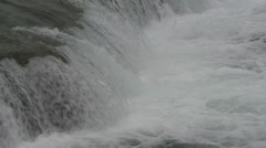 P01499 Salmon Leaping by Waterfall Stock Footage