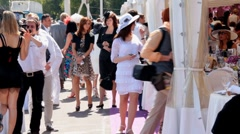 Beautiful people on the Event Stock Footage