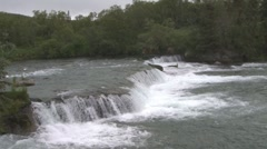 P01501 Brooks Falls at Katmai National Park Stock Footage