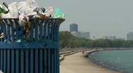 Trash in Chicago Beach HD Stock Footage