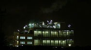 Stock Video Footage of Industrial building at night