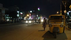 Night traffic in Hyderabad 4974 - stock footage