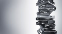 Office Binders Stack (Loop) Stock Footage