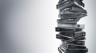Stock Video Footage of Office Binders Stack (Loop)