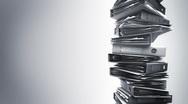 Office Binders Stack (Loop) Stock Footage