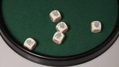 (7/7) Escalero Poker: Grande (Five of a kind) served - stock footage