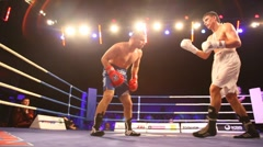 Close-up of boxing match is in illuminated hall BARVIKHA LUXURY VILLAGE Stock Footage