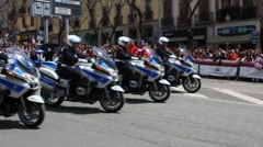 Italian Police Motorcycle Stock Footage