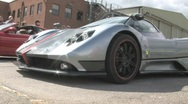 Stock Video Footage of Pagani Zonda S exits pits