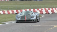Pagani Zonda S on race track Stock Footage