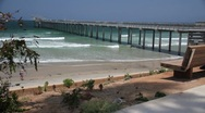 Stock Video Footage of Scripps Pier