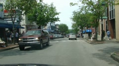 A drive down main street of Bar Harbor 9815 Stock Footage