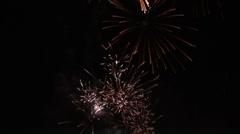Real Fireworks Golden Rain 4 Stock Footage