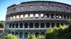 Colosseum or Flavian Amphitheatre in Rome Stock Footage