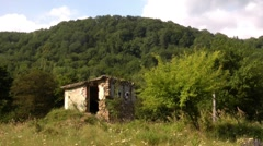 The ruins in the mountains in the North Caucasus Stock Footage
