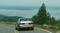 Descent from Cadillac Mountain. 9811 Stock Footage