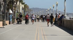Mission Beach Boardwalk - stock footage