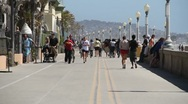 Mission Beach Boardwalk Stock Footage