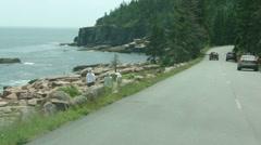 Drive along Ocean Loop highway. 9813 Stock Footage