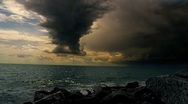 Stock Video Footage of storm over the big lake