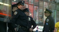 Four NYC cops Stock Footage