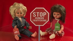Stop human trafficking (ver.2) - prices in dollars Stock Footage