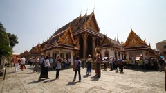 Bangkok Grand Palace 4 Stock Footage
