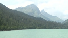 Big lake in mountain landscape Stock Footage