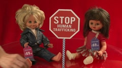 Stop human trafficking (ver.3) - prices in euros Stock Footage