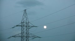 Stock Video Footage of Reliance Power Line Time Lapse 2