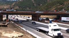 405 bridge construction timelaspe Stock Footage