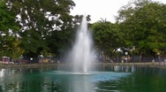 Stock Video Footage of Puerto Rico - Water Fountain in Pond