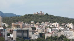 Palma Mallorca Bellver Castle zoom out P HD 1596 - stock footage