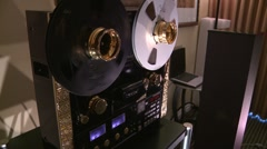 Reel to Reel Tape Deck Stock Footage
