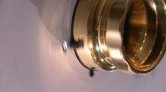 Reel to Reel hub spinning Stock Footage