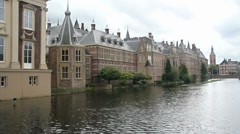 Dutch Parliament in The Hague - stock footage