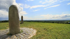 Timelapse Stone of Destiny on the Hill of Tara, Ireland  Stock Footage