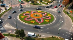 Roundabout Summer - stock footage