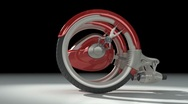 Stock Video Footage of BIK 3D red futuristic concept vehicle