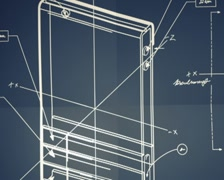 Classic Smartphone Blueprint Smooth Camera Pan and Zoom PAL Stock Footage