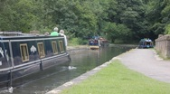 Stock Video Footage of canal boat 2