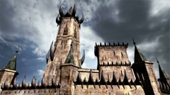 Fantasy Castle Clouds Timelapse 01 Stock Footage
