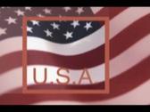 American flag animation Stock Footage