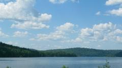 Summer landscape with mounatin lake - timelapse Stock Footage