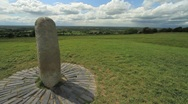 Stock Video Footage of Stone of Destiny on the Hill of Tara, Ireland GFHD